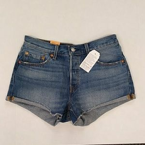 201 LEVI'S 28 JEAN SHORTS NEW 501 BUTTON FLY